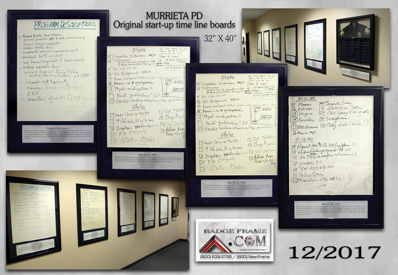 Murrieta PD - Original Timeline storyboards