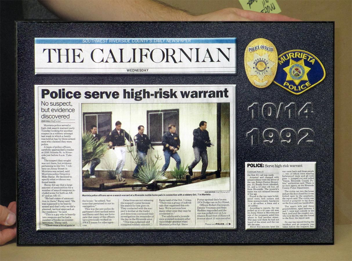 Murrieta PD - Newspaper Articles