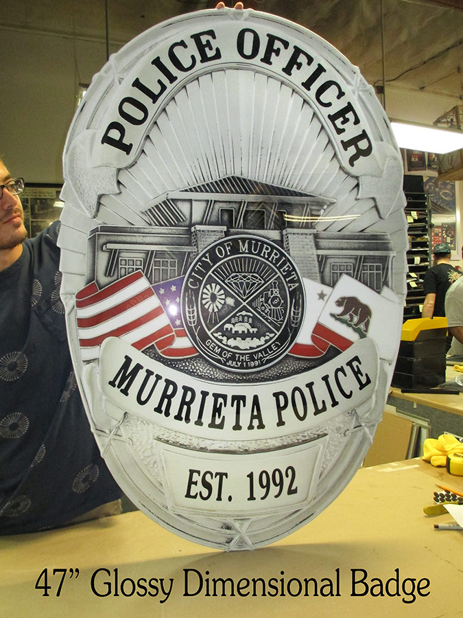 Murrieta PD Badge from Badge Frame