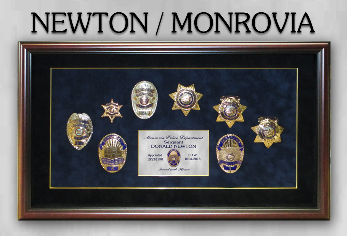 Monrovia PD - Donald Newton - Police Retirement Badges