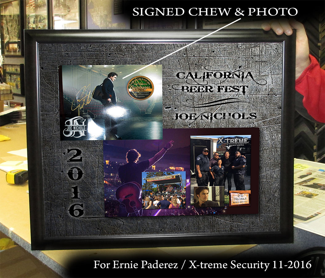 Joe Nichols Signed - X-treme Security presentation from Badge Frame 11-2016