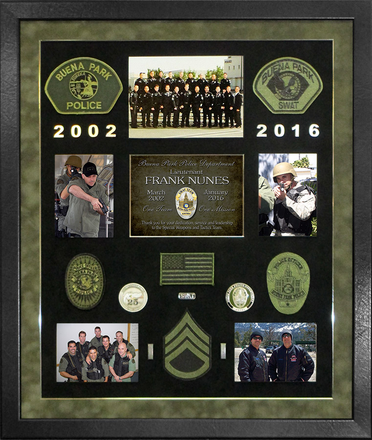 Frank                             Nunes / BPPD / SWAT Presentation from Badge                             Frame