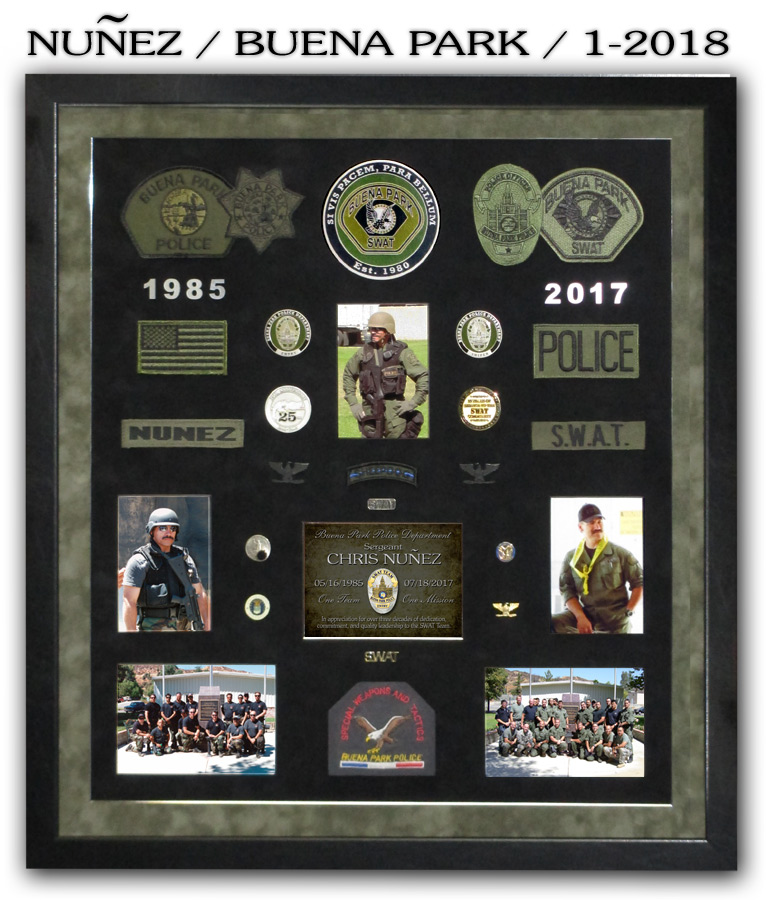 Nunez / Buena Park PD SWAT presentation from Badge Frame