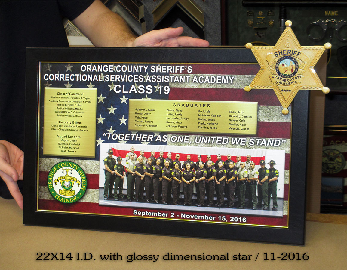 Orange County Sheriff's Academy - Class 19 from Badge Frame