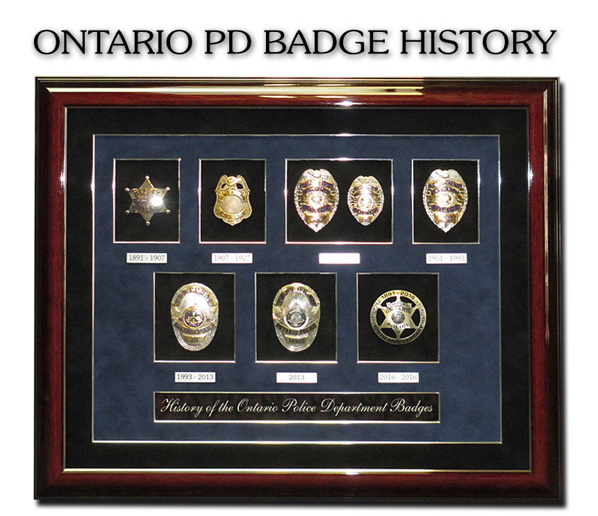 Ontario PD - Badge History from Badge                             Frame