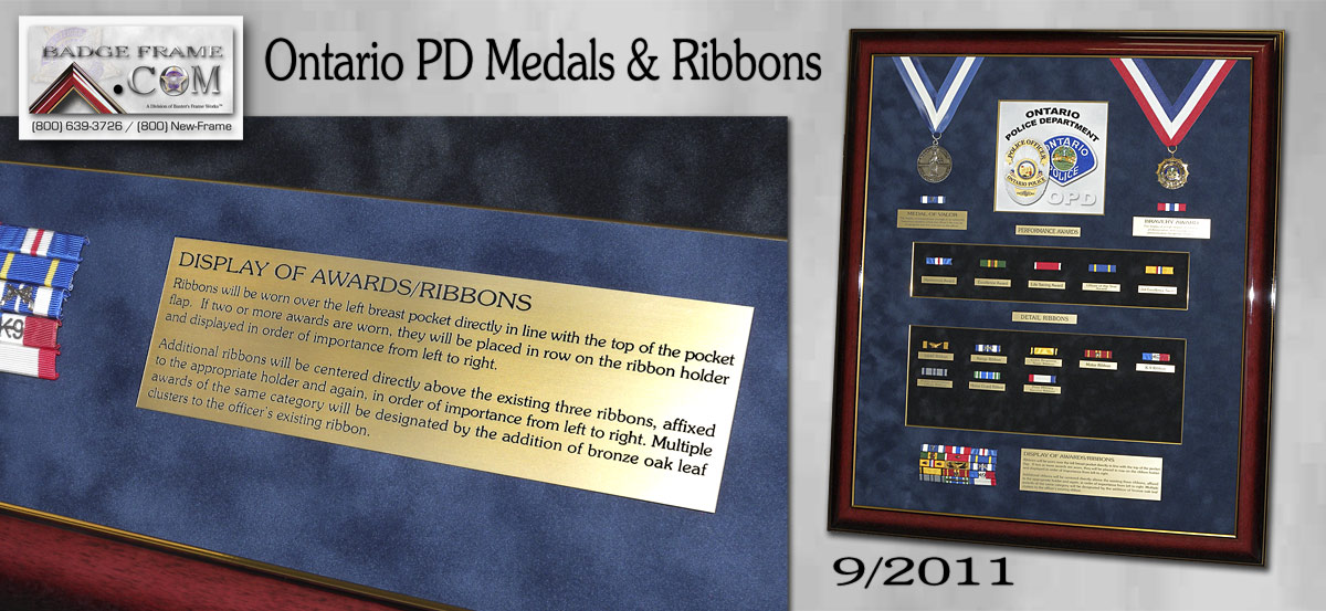 Ontario PD - Medals & Ribbons