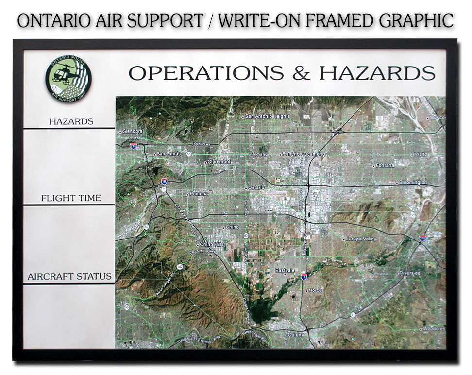 Ontario Air                             Support - Hazard Operations Write-On Board                             Graphic