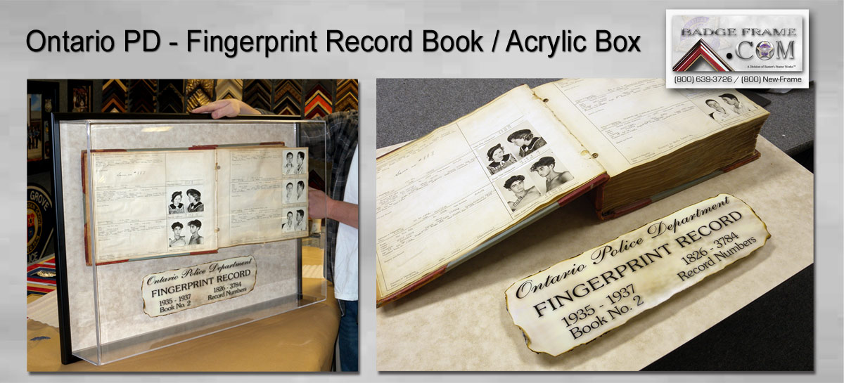 Ontario PD - Fingerprint Book / Acrylic Box