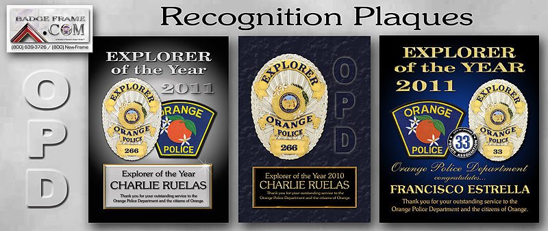 Orange PD -                   Recognition Plaques