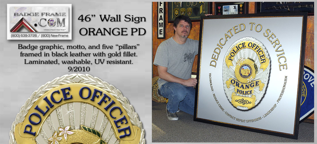 Orange PD - Wall Sign
