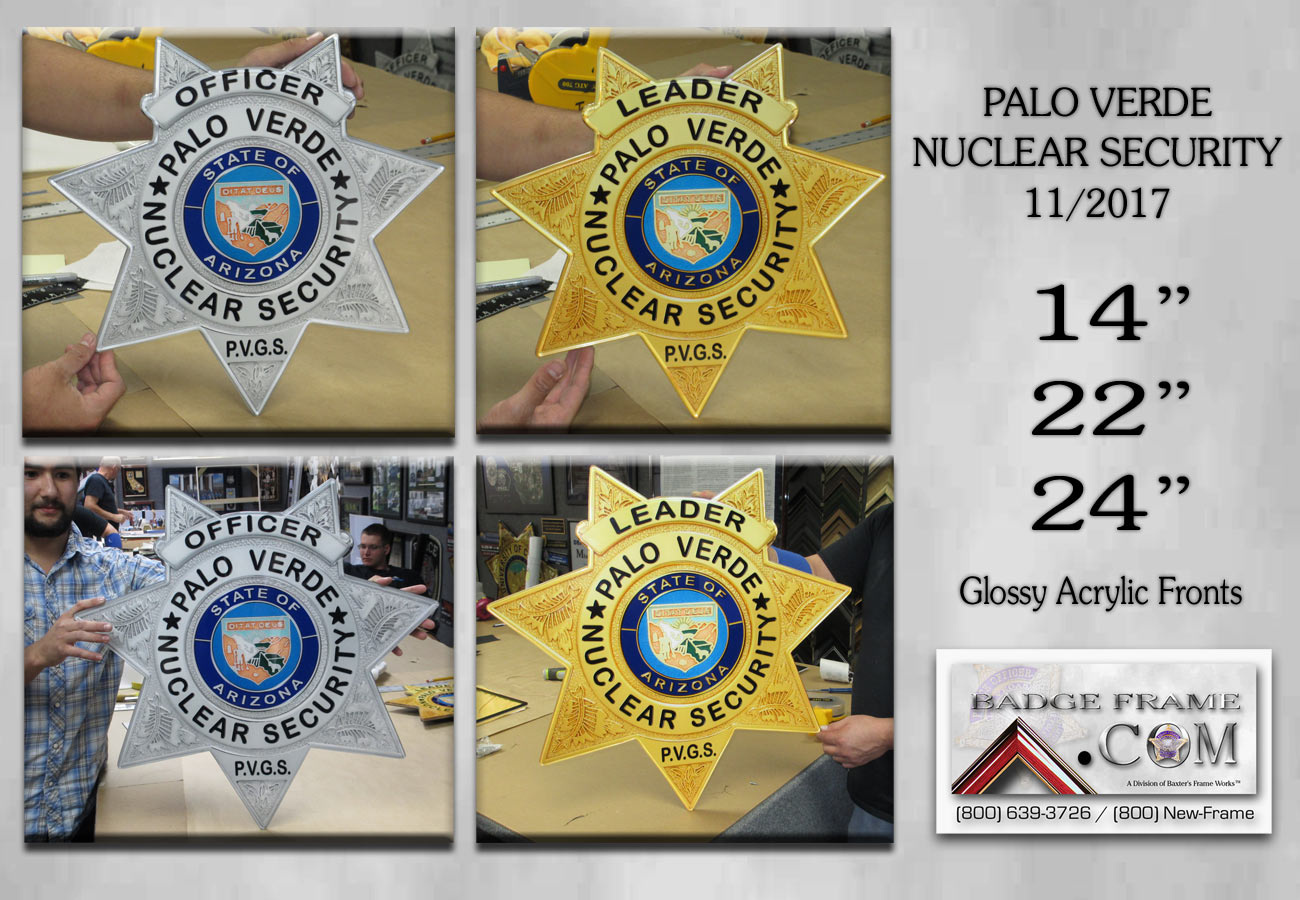 Palo Verde Nuclear Security Oversize Badges