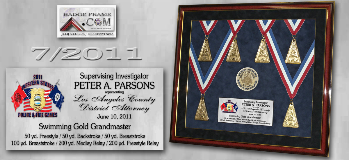 Parsons - Swimming Medals                                       - L.A. County District Attorney