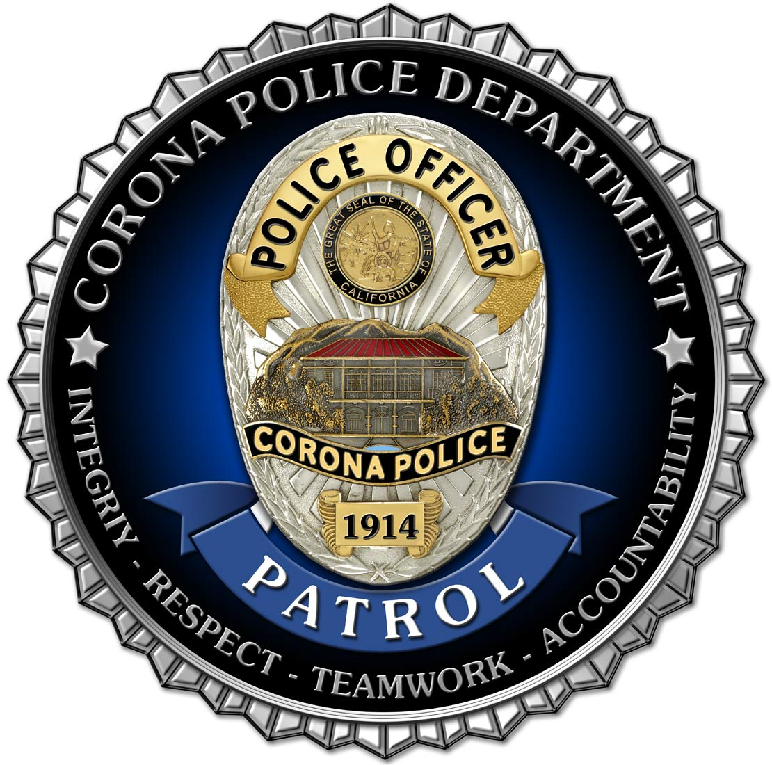 Corona PD -           Patrol Seals