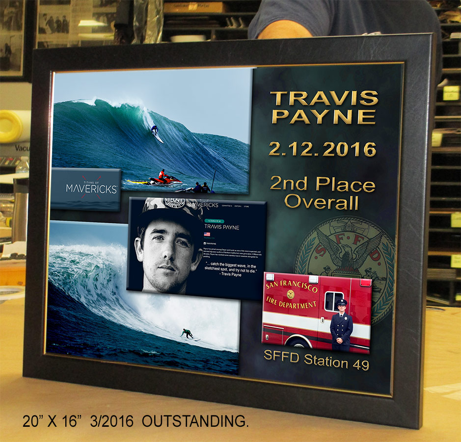 Travis Payne, 2nd place Mavericks           2016, San Francisco Fire Department