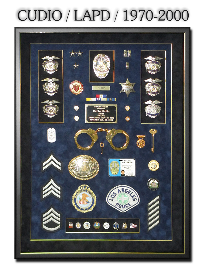 Cudio - LAPD Retirement Presentation from Badge Frame