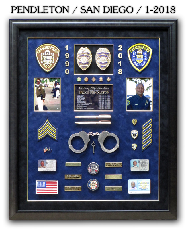Pendleton - San Diego PD Retirement from Badge Frame 1/21018