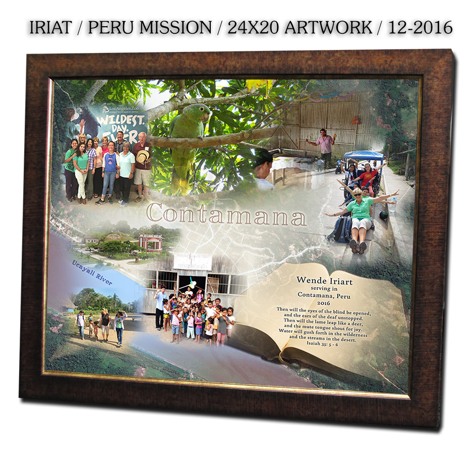 Peru Mission Collage from Badge Frame
