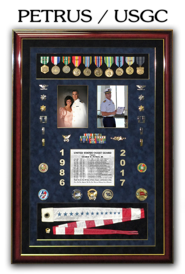 Petrus - USCG retirement presentation from Badge Frame