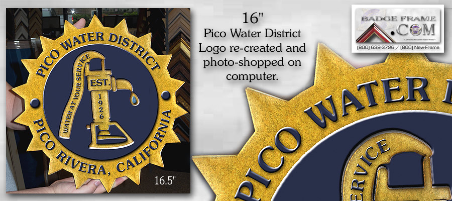 Pico Water District - Logo plaque