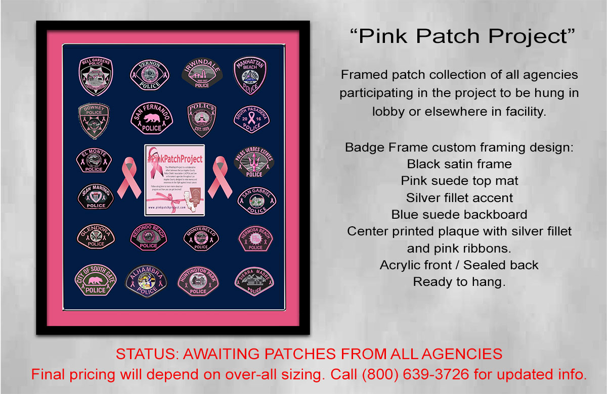 Pink Patch Framing Project from Badge Frame