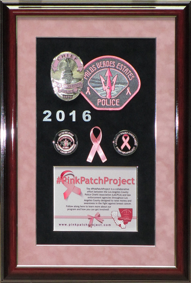 Pink Patch Presentation from Badge Frame