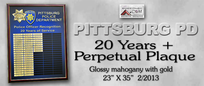 Pittsburg         PD - 20+ Years