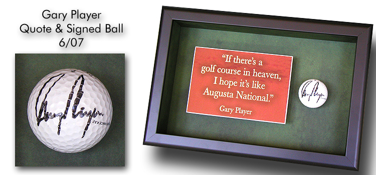Gary Player Signed