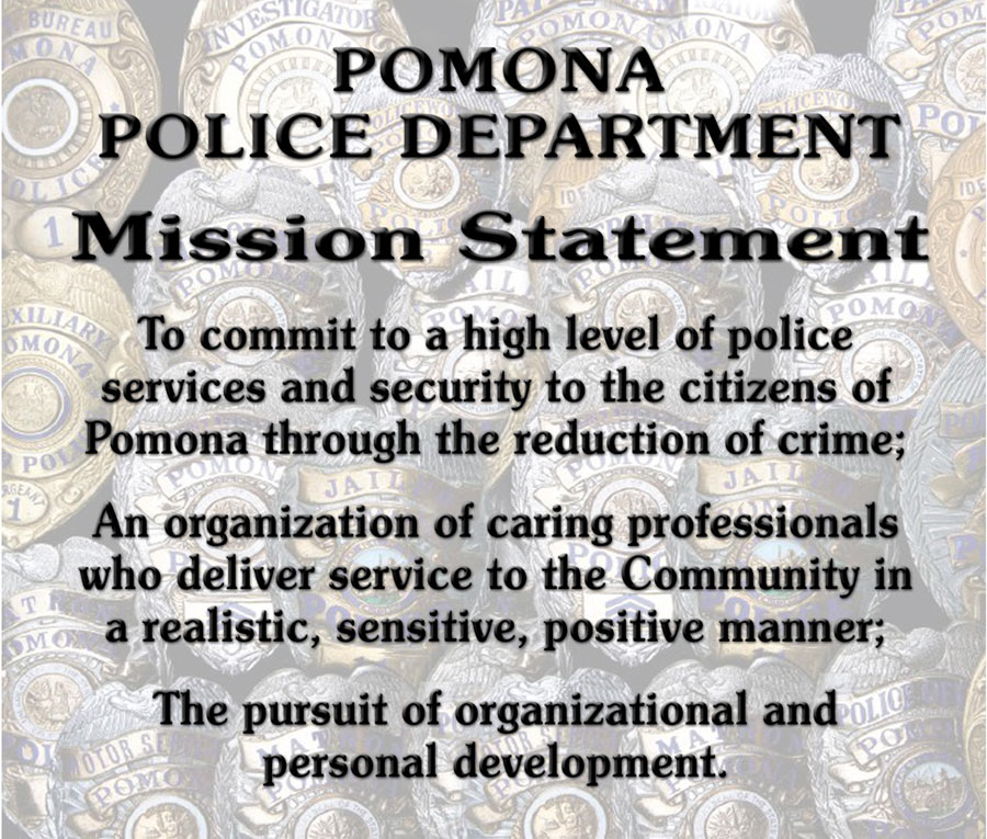 Pomona PD - Mission Statement