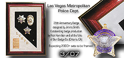 Badge Frame / LVMPD