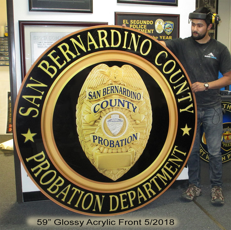 San Bernardino County Probation Seal from badge frame