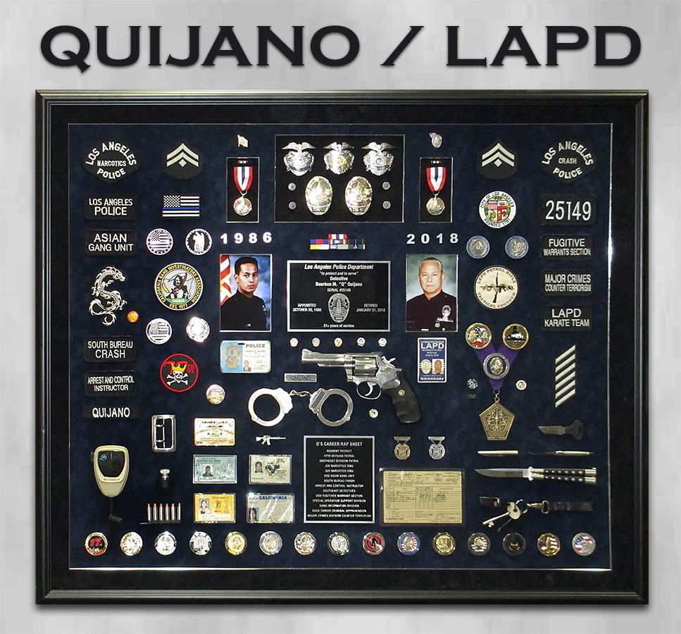 Quijano / LAPD Retirement Presentation from Badge Frame
