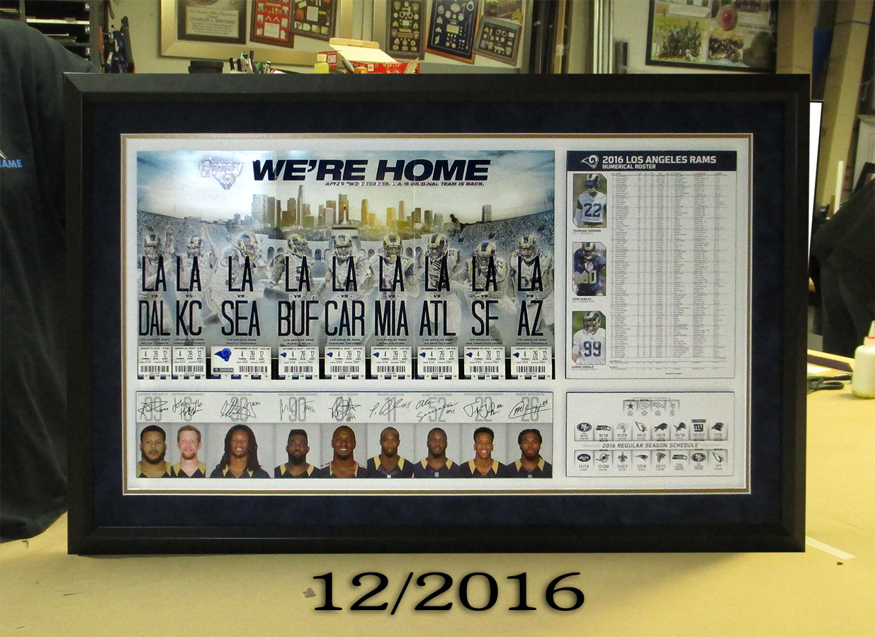 LA RAMS presentation from Badge Frame
