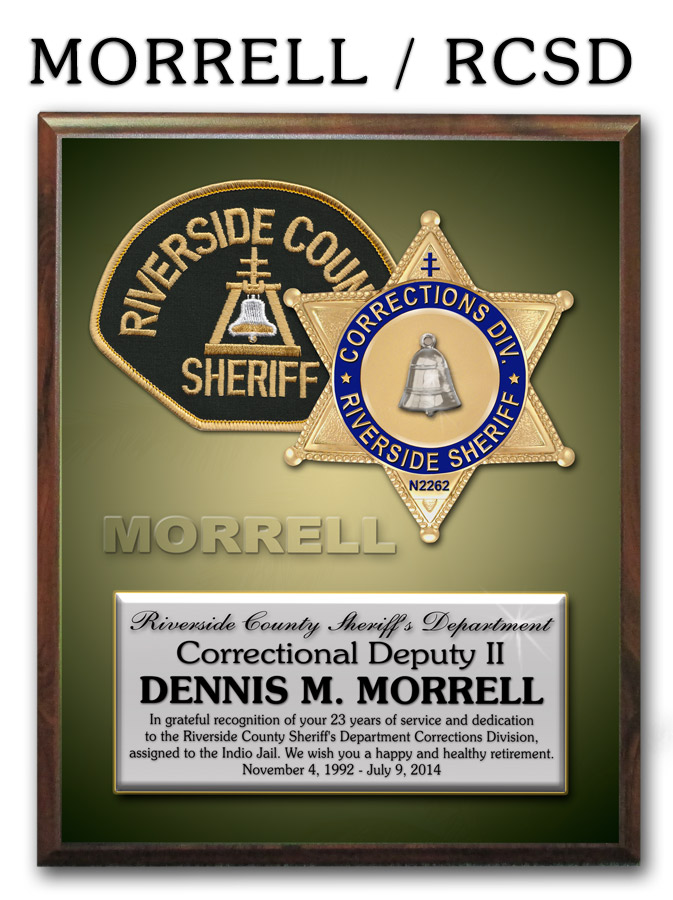 Riverside Co. Sheriff Recognition