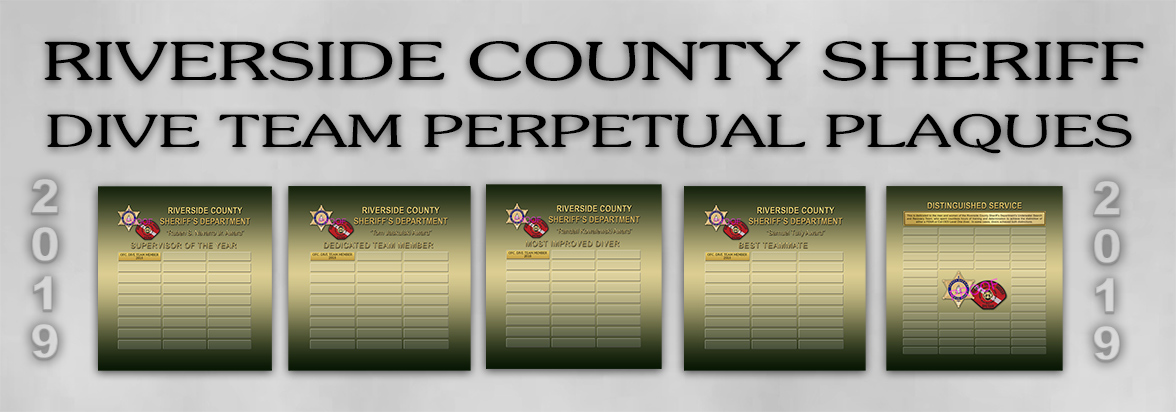 Riverside County Sheriff - Dive Team - Perpetual Plaques