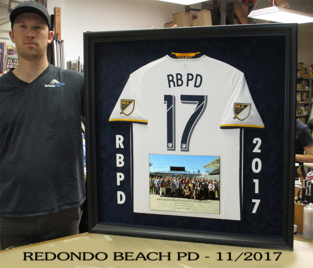 Redondo Beach PD T-Shirt presentation from Badge Frame