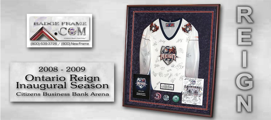 Sports Related Custom Framing Projects From Badge Frame