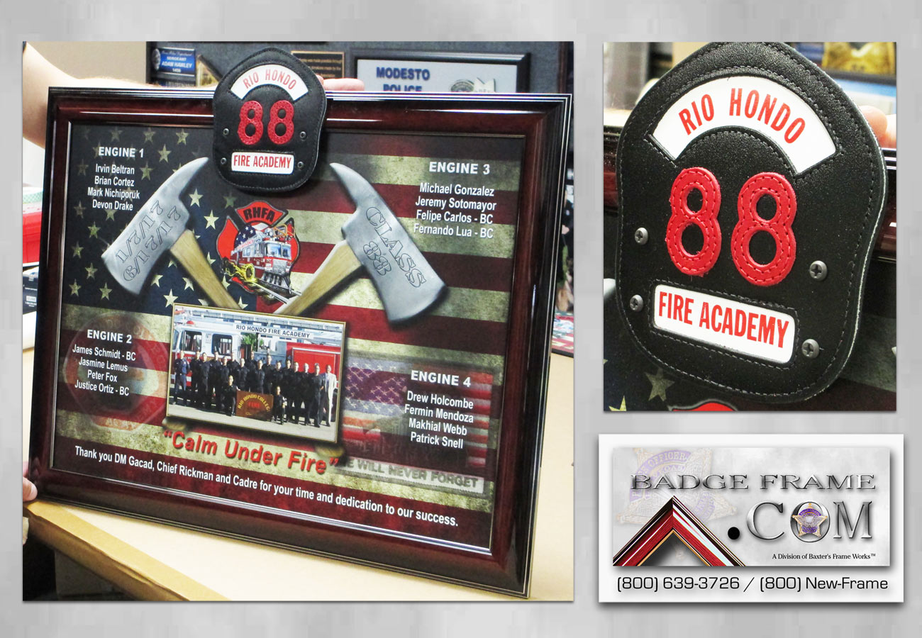 Rio Hondo Fire Academy presentation from Badge Frame