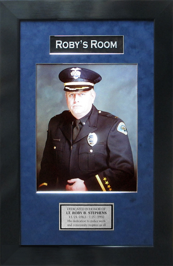 Pomona PD - Roby's Room framing from Badge Frame