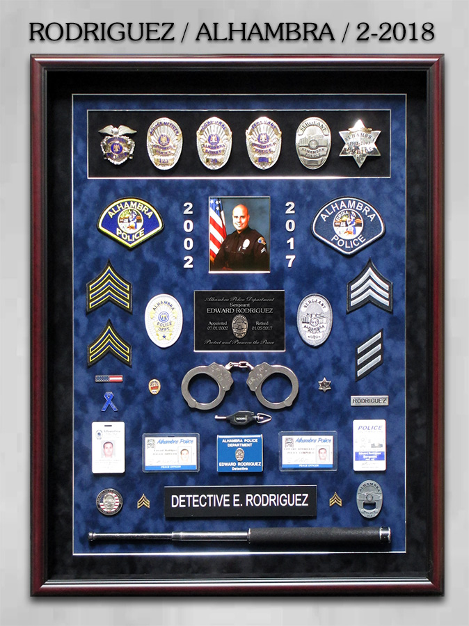 Rodriguez / Alhambra PD Retirement from Badge Frame