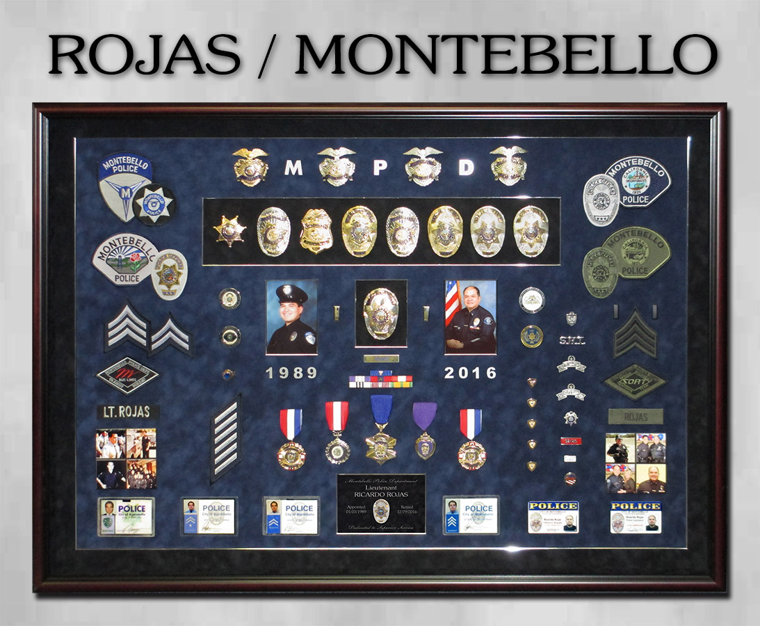 Rojas - Montebello PD Police Retirement                 Presentation from Badge Frame