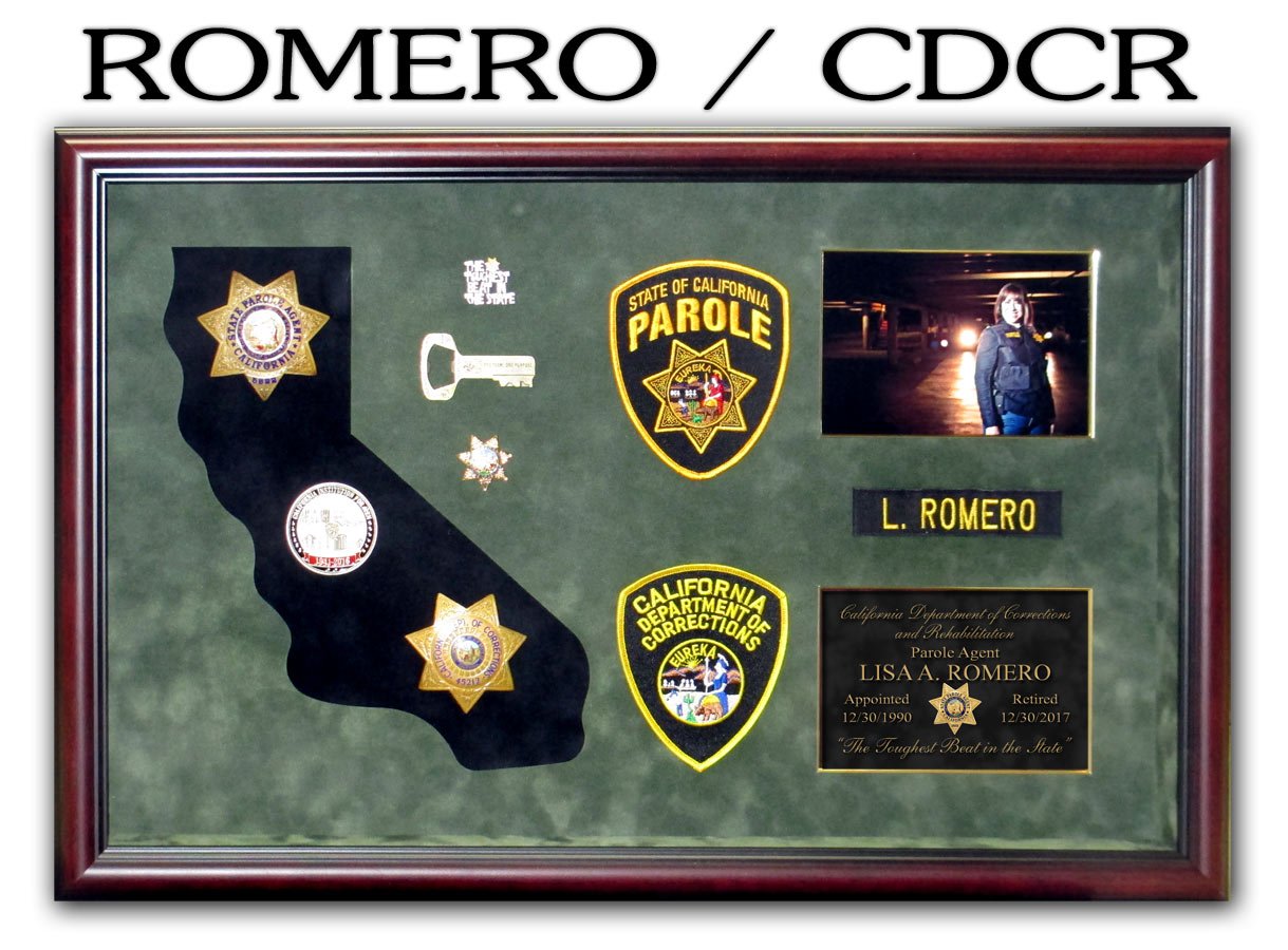 Romero / CDCR Retirement presentation from Badge Frame