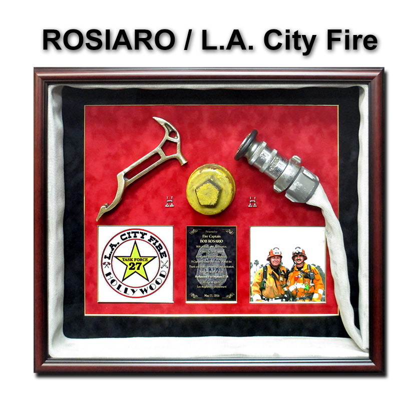 rosario fire, badge frame