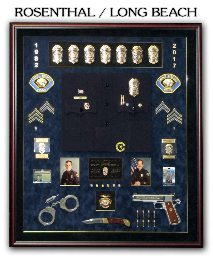 Rosenthal - Laong Beach PD Police Retirement presentation from Badge Frame