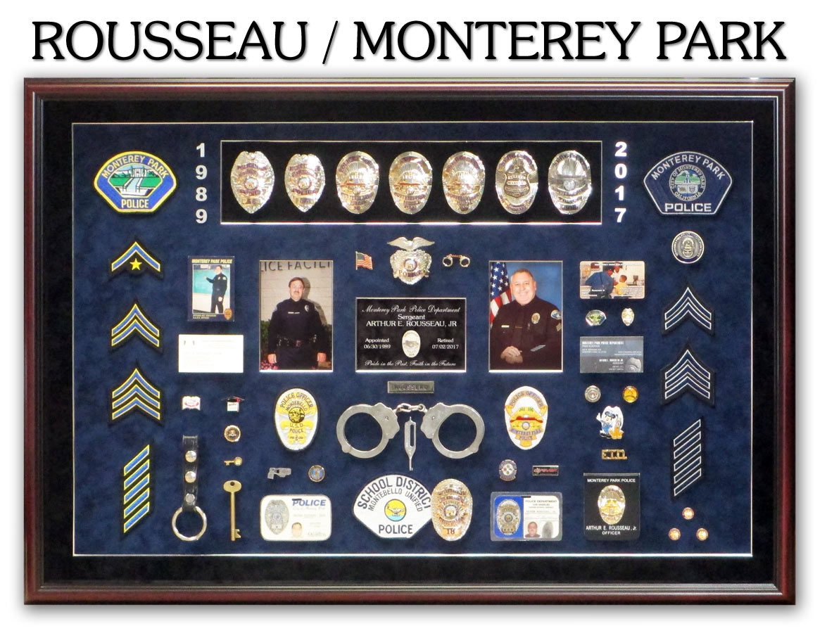 Rousseau Police Retirement Presentation from Badge Frame