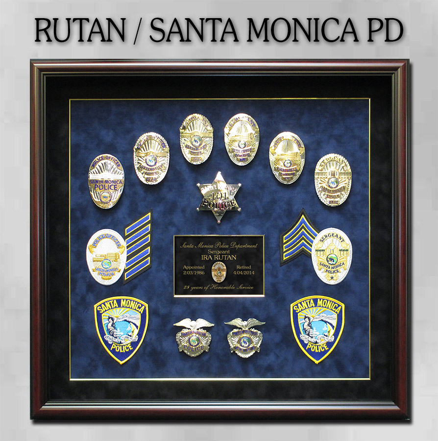 Rutan - Santa Monica PD                     presentation from Badge Frame