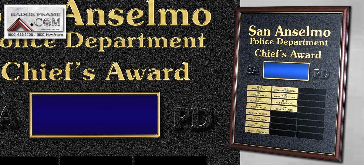 San Anselmo - Chief's Award