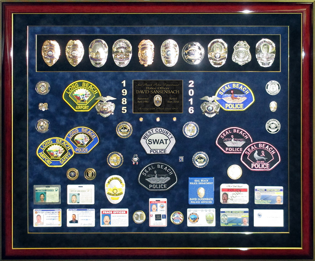 Sansenbach - Seal Beach PD Retirement Presentation from Badge Frame