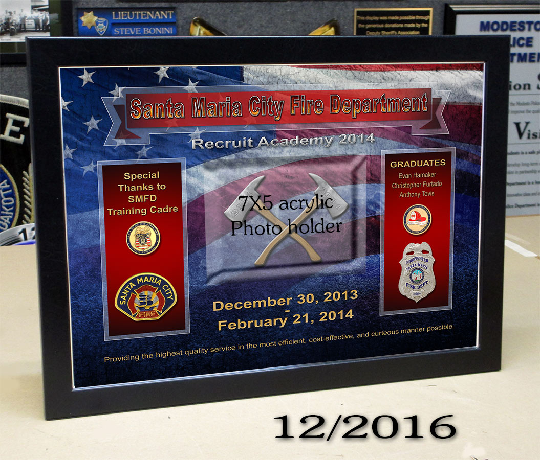 Santa Maria Fire Academy presentation from Badge Frame