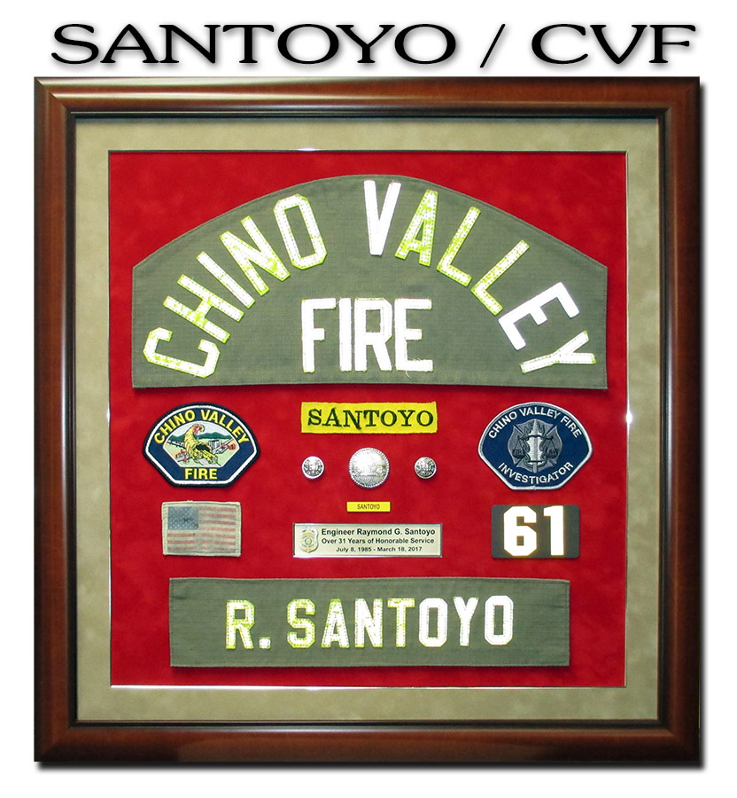 Chino Valley Fire - Santoyo Retirement Presentation from Badge Frame