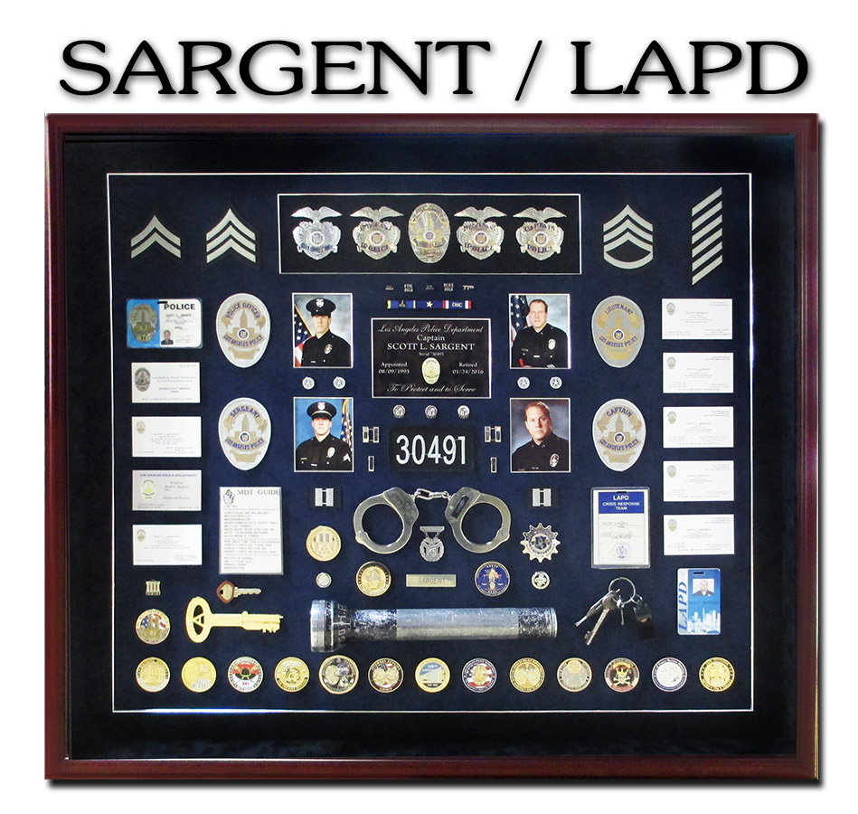 LAPD Shadowbox           From Badge Frame for Sargent